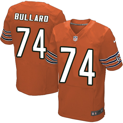 Jonathan Bullard Nike Chicago Bears Elite Orange Alternate Jersey