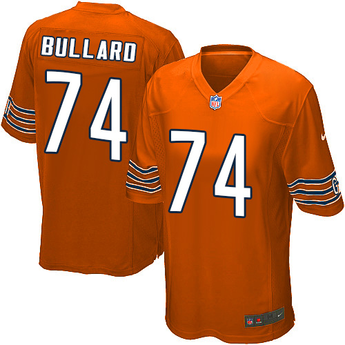Jonathan Bullard Nike Chicago Bears Game Orange Alternate Jersey