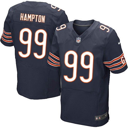 Dan Hampton Nike Chicago Bears Elite Navy Blue Team Color Jersey