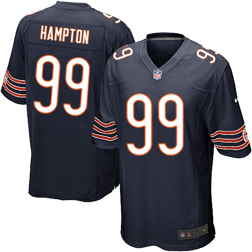 Dan Hampton Nike Chicago Bears Game Navy Blue Team Color Jersey
