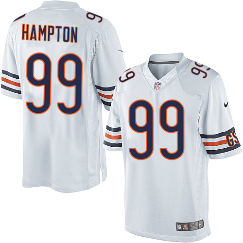 Dan Hampton Nike Chicago Bears Limited White Jersey