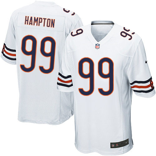 Dan Hampton Nike Chicago Bears Game White Jersey