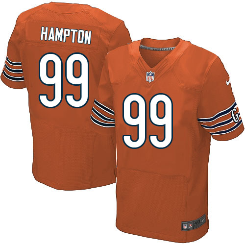 Dan Hampton Nike Chicago Bears Elite Orange Alternate Jersey