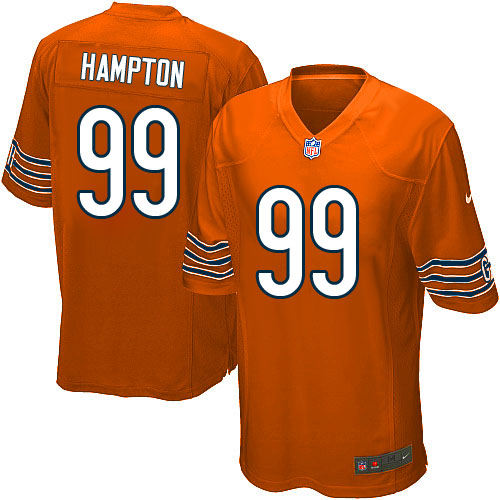 Dan Hampton Youth Nike Chicago Bears Elite Orange Alternate Jersey