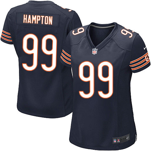 Dan Hampton Women's Nike Chicago Bears Game Navy Blue Team Color Jersey