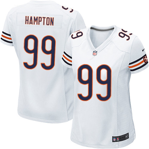 Dan Hampton Women's Nike Chicago Bears Game White Jersey