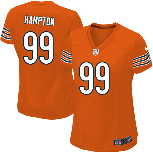 Dan Hampton Women's Nike Chicago Bears Game Orange Alternate Jersey