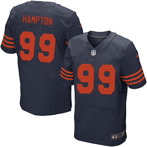 Dan Hampton Nike Chicago Bears Elite Navy Blue 1940s Throwback Alternate Jersey