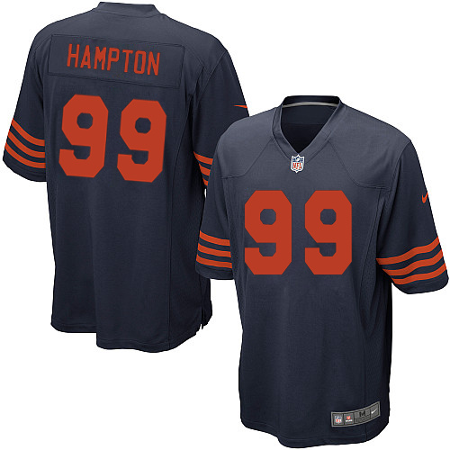 Dan Hampton Nike Chicago Bears Game Navy Blue 1940s Throwback Alternate Jersey