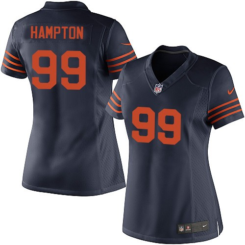 Dan Hampton Women's Nike Chicago Bears Elite Navy Blue 1940s Throwback Alternate Jersey