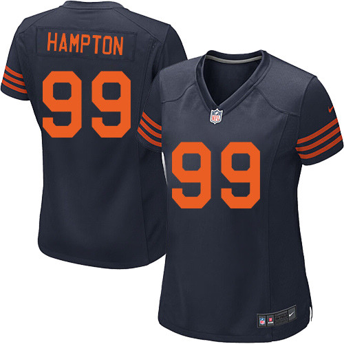 Dan Hampton Women's Nike Chicago Bears Game Navy Blue 1940s Throwback Alternate Jersey