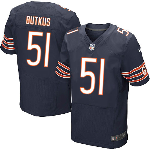 Dick Butkus Nike Chicago Bears Elite Navy Blue Team Color Jersey
