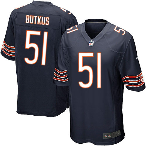 Dick Butkus Nike Chicago Bears Game Navy Blue Team Color Jersey