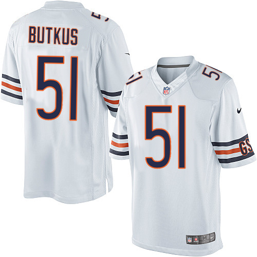 Dick Butkus Nike Chicago Bears Limited White Jersey