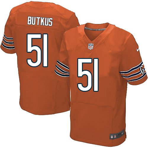 Dick Butkus Nike Chicago Bears Elite Orange Alternate Jersey