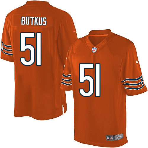 Dick Butkus Nike Chicago Bears Limited Orange Alternate Jersey