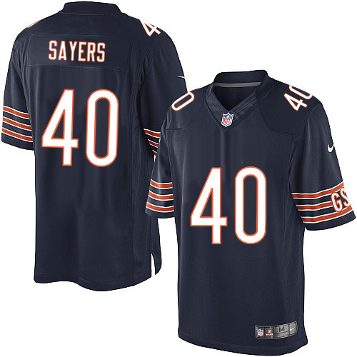 Gale Sayers Nike Chicago Bears Limited Navy Blue Team Color Jersey