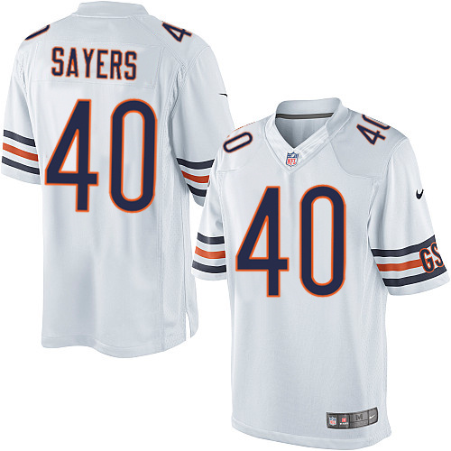 Gale Sayers Nike Chicago Bears Limited White Jersey