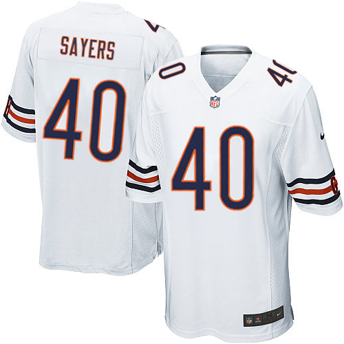 Gale Sayers Nike Chicago Bears Game White Jersey