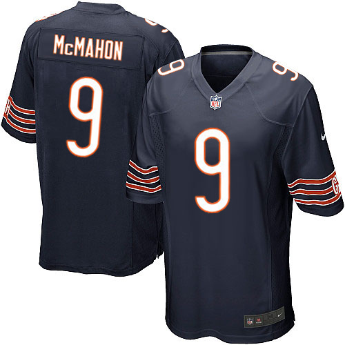 Jim McMahon Nike Chicago Bears Game Navy Blue Team Color Jersey