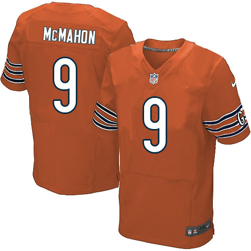 Jim McMahon Nike Chicago Bears Elite Orange Alternate Jersey