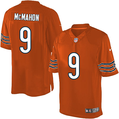 Jim McMahon Nike Chicago Bears Limited Orange Alternate Jersey