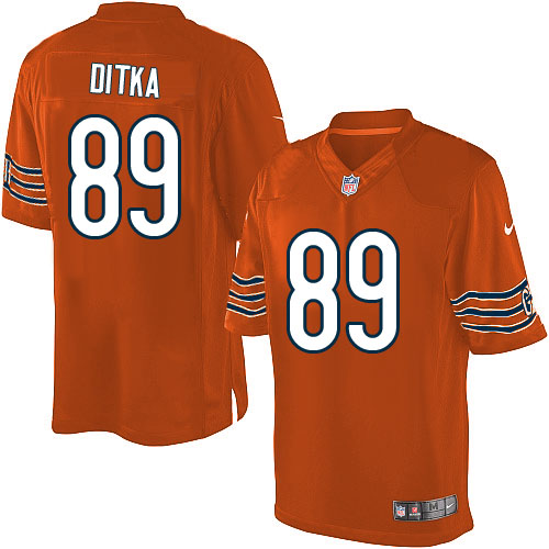 Mike Ditka Nike Chicago Bears Limited Orange Alternate Jersey