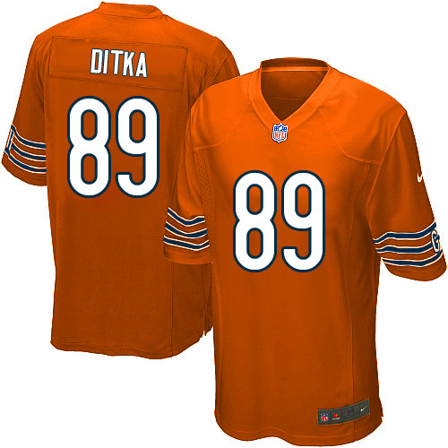 Mike Ditka Nike Chicago Bears Game Orange Alternate Jersey