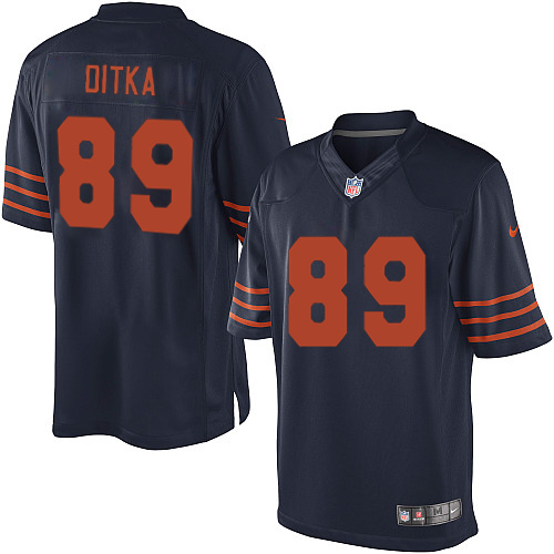 Mike Ditka Nike Chicago Bears Limited Navy Blue 1940s Throwback Alternate Jersey