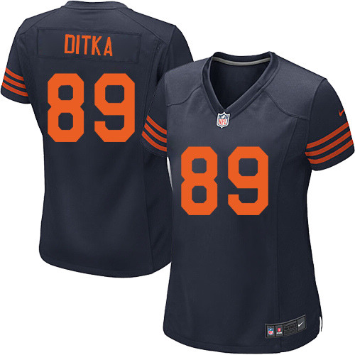 Mike Ditka Women's Nike Chicago Bears Game Navy Blue 1940s Throwback Alternate Jersey