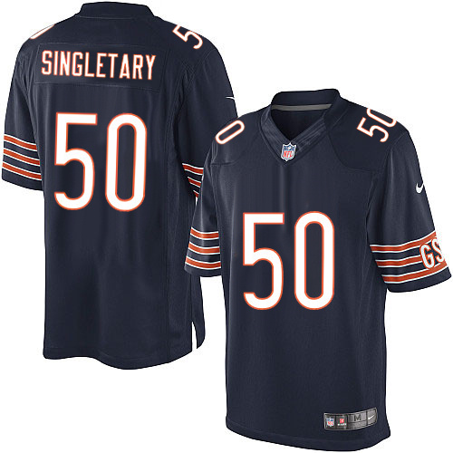 Mike Singletary Nike Chicago Bears Limited Navy Blue Team Color Jersey
