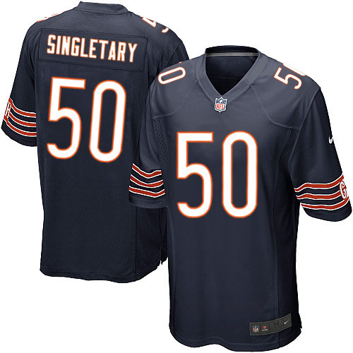 Mike Singletary Nike Chicago Bears Game Navy Blue Team Color Jersey