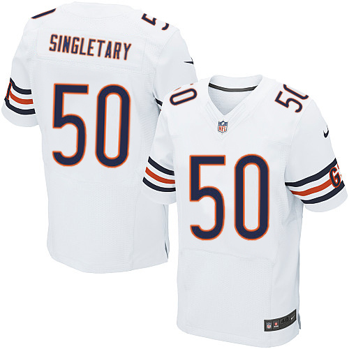 Mike Singletary Nike Chicago Bears Elite White Jersey