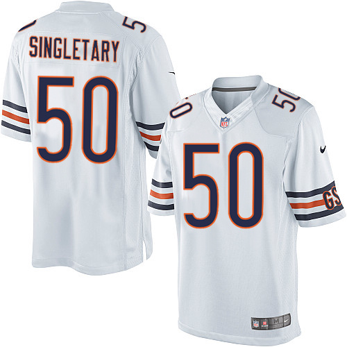 Mike Singletary Nike Chicago Bears Limited White Jersey