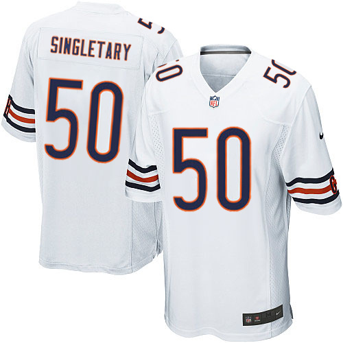 Mike Singletary Nike Chicago Bears Game White Jersey