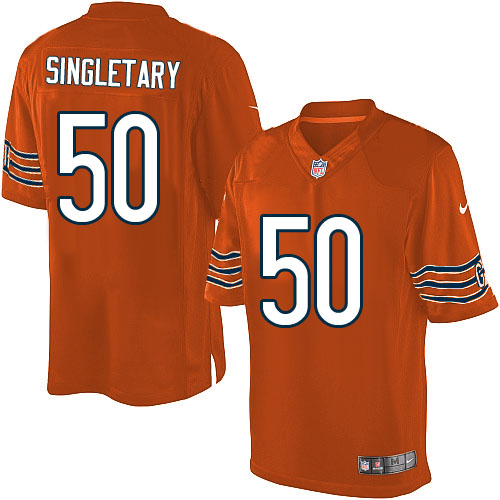 Mike Singletary Nike Chicago Bears Limited Orange Alternate Jersey
