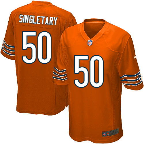 Mike Singletary Nike Chicago Bears Game Orange Alternate Jersey