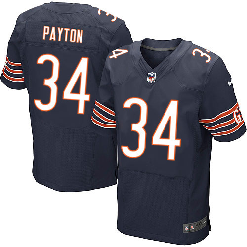 Walter Payton Nike Chicago Bears Elite Navy Blue Team Color Jersey