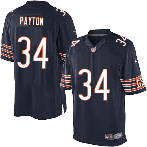 Walter Payton Nike Chicago Bears Limited Navy Blue Team Color Jersey