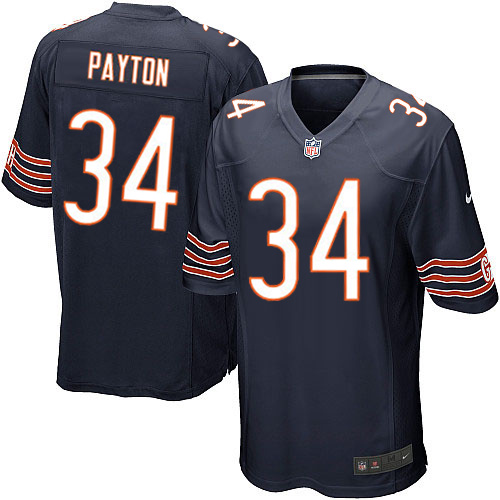 Walter Payton Nike Chicago Bears Game Navy Blue Team Color Jersey