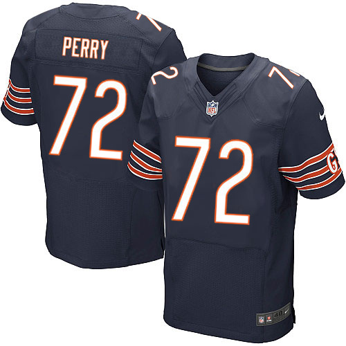William Perry Nike Chicago Bears Elite Navy Blue Team Color Jersey