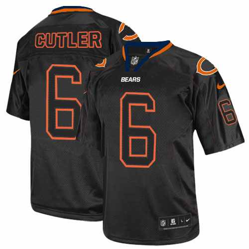 Jay Cutler Nike Chicago Bears Elite Lights Out Black Jersey