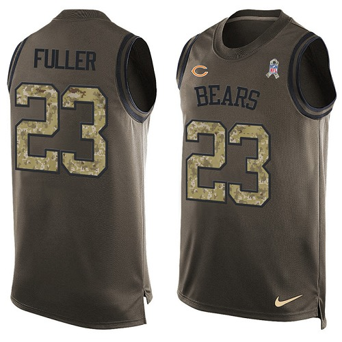 Kyle Fuller Nike Chicago Bears Limited Green Salute to Service Tank Top Alternate Jersey