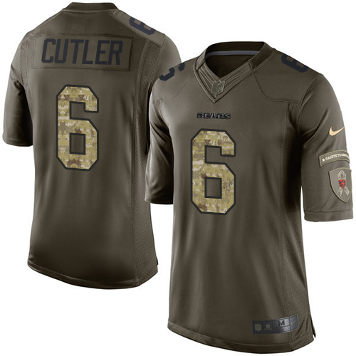 Jay Cutler Youth Nike Chicago Bears Limited Green Salute to Service Jersey