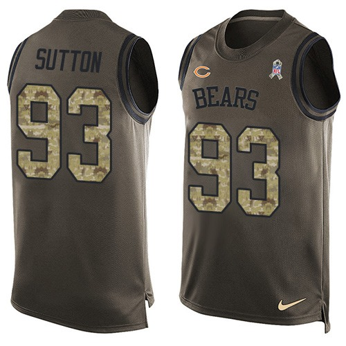 Will Sutton Nike Chicago Bears Limited Green Salute to Service Tank Top Alternate Jersey