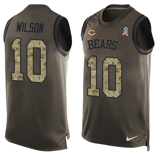 Marquess Wilson Nike Chicago Bears Limited Green Salute to Service Tank Top Alternate Jersey