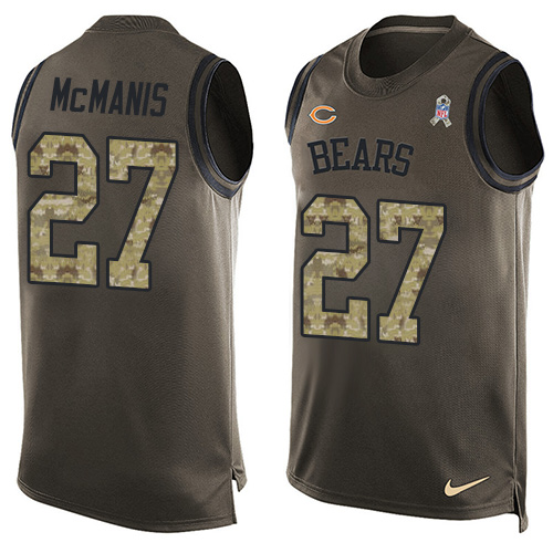 Sherrick McManis Nike Chicago Bears Limited Green Salute to Service Tank Top Alternate Jersey