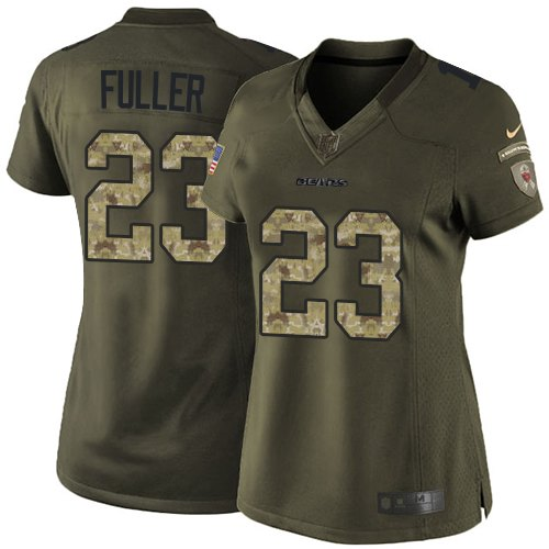 Kyle Fuller Women's Nike Chicago Bears Limited Green Salute to Service Jersey