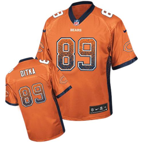 Mike Ditka Nike Chicago Bears Limited Orange Drift Fashion Jersey