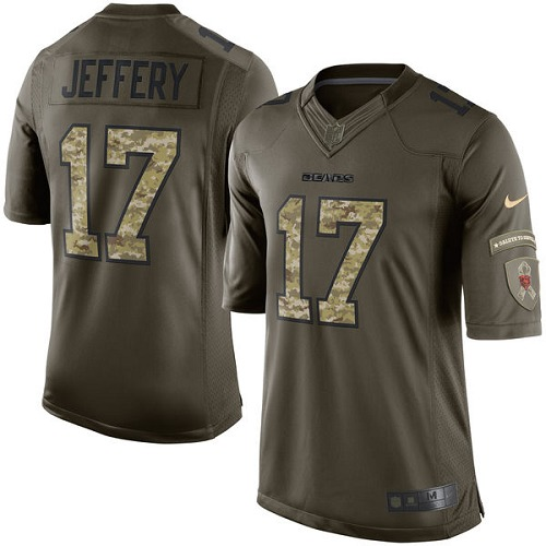 Alshon Jeffery Nike Chicago Bears Elite Green Salute to Service Jersey